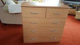 Chest of Drawers 6 Drawers in beech