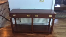 Campaign style Console Table & Matching coffee Table