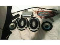 Sony car stereo and speakers
