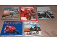 FIVE MOTORCYCLE COFFEE TABLE SIZE BOOKS, PERFECT CONDITION