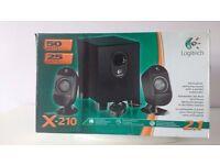 Logitech X210 Subwoofer & Speakers
