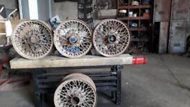 4 13inch spoke wheels