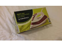 *BRAND NEW* Stainless Steel Steam Iron by Sainsbury's - FREE 1 day/same day DELIVERY