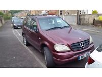 2000 Mercedes ML320 7 Seater For Spares Or Repairs. Still Runner