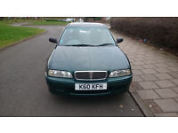1997 ROVER 620 SLI AUTOMATIC 2.0 HONDA ENGINE. MOT: 05/03/2018. WARRANTED LOW MILEAGE: 66700
