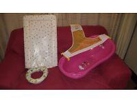 Mini Mouse Baby Bath/Changing Mat/Training Toilet Seat/Bath Hammock