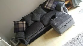 Four Seater Sofa, Snug Chair and Puff