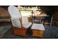 Rocking chair with stool reduced price for quick sale