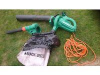 Black and Decker leaf blower/vacuum.