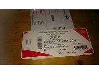 4 Coldplay tickets for Tuesday 11th Cardiff can deliver locally