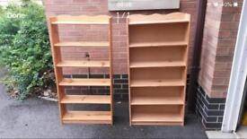 PINE BOOKSHELF/SHELVING UNITS £15 EACH - CAN DELIVER