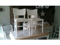 beautiful restored table and 2 chairs