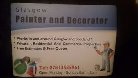 Painter & Decorator in and Around Glasgow