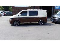 VW T5 Kombi MPV 2 tone Brown and Cream day van camper 6 seater Transporter