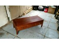 Chinese hardwood opium coffee table