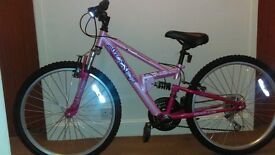 Girls Apollo 24 inch bike. Like new hardly ever been used