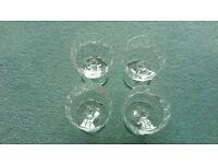 4 Wedgewood Sundae glasses - cut glass