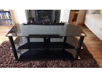Black Glass TV/AV Stand