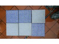 Mosaic look tile, 2 shades of blue 10square metres