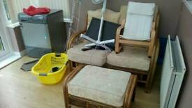 House clearance bookcases, dining table, trunki, tents, trampoline, curtains, condenser dryer