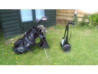 Excellent quality Golf Club set with trolley. Suit young player as first set