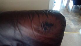 2 seater and 3 seater leather sofas £50 for both
