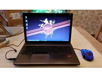 Like NEW - FAST Lenovo mid range gaming laptop + gaming mouse + case + 2 games - HD 7640G 8GB RAM