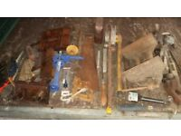 selection of old woodworking tools