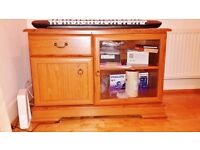 Wooden Cabinet,Set of Two Chest of Drawers and Metal Cabinet-Preferably Sold together,