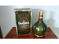 EMPTY GLENFIDDICH SPODE WHISKY BOTTLE COLLECTABLE COMPLETE IN ORIGINAL BOX