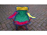 Kids' camping chair - multicoloured