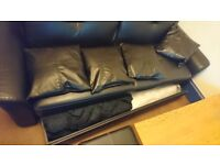 Faux Leather Sofa Bed With Large Drawer Storage For Sale