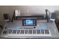 Yamaha Tyros 4 keyboard.