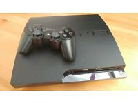 PS3 Slim 320 gb with 40 Games