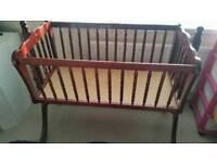 Babys rocking crib
