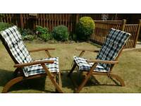 Hardwood Garden Chairs & cushions Land of Leather