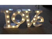 Love light wedding
