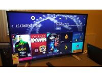 LG 49-inch SUPER Smart 4K ACTIVE HDR UHD LED TV,built in Wifi,Freeview HD,GREAT Condition