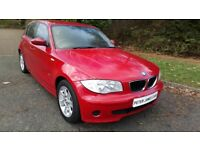 BMW 116I SE 56 REG 5 DOOR IN RED WITH BLACK TRIM, SERVICE HISTORY AND MOT SEPTEMBER 2018