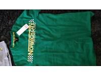 Norwich city football club t- shirt