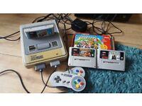 Snes original 2 controls 3 games