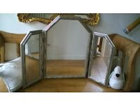 lovely large triple dressing table mirror