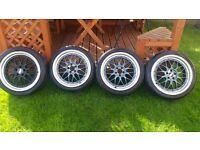 BBS LM reps 18inch 5x100 alloy wheels golf skoda seat