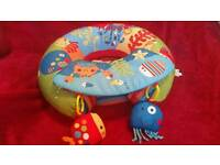 Red Kite Sit Me Up Inflatable Ring Baby Play Chair Tray Playnest