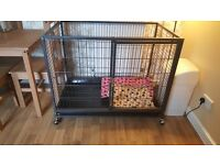 *Large black dog cage perfect condition*