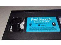 Paul Simon in Central Park Vhs video
