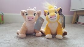 Disney Lion King Soft toys (Simba and Nala)