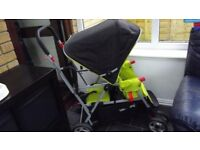Joovy Caboose Ultralight Double buggy Extras 2nd Seat Pack Tray Raincover Superb condition