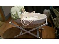 Olive and henri Moses basket and stand