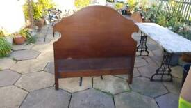 Solid Antique Mahogany Bed Head and Foot Board